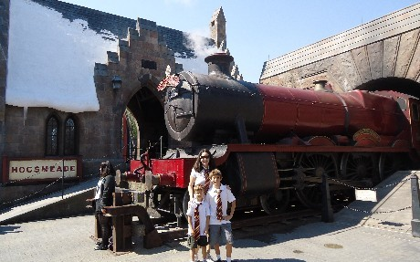 At The Wizarding World of Harry Potter in Orlando, FA!